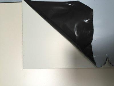 Aluminiumcompociet 3 mm. Wit/Wit