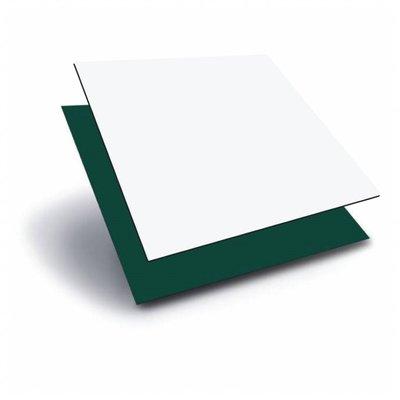 Aluminiumcompociet 3 mm. Groen/Wit