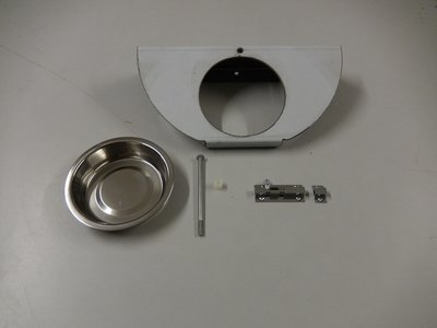 Draaiplato 1 Gaats 13 cm. RVS