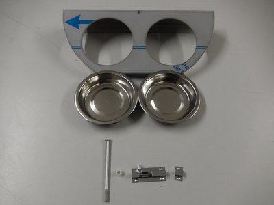 Draaiplato 2 Gaats 11 cm. RVS