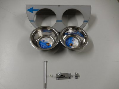 Draaiplato 2 Gaats 13 cm. RVS