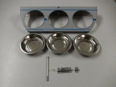 Draaiplato 3 Gaats 11 cm. RVS