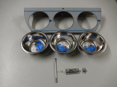 Draaiplato 3 Gaats 13 cm. RVS - INCL Aluminium omlijsting