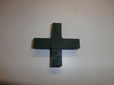 nr.209 4 Poot Kruis  20/20-1.5 Zwart