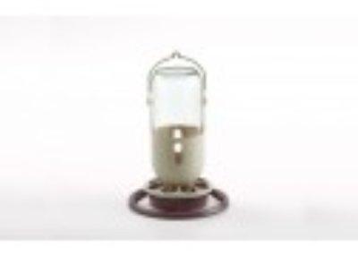 Fauna flessenhouder glas 1 ltr.Bruin/Beige